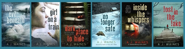 All of AJ Waines' book covers