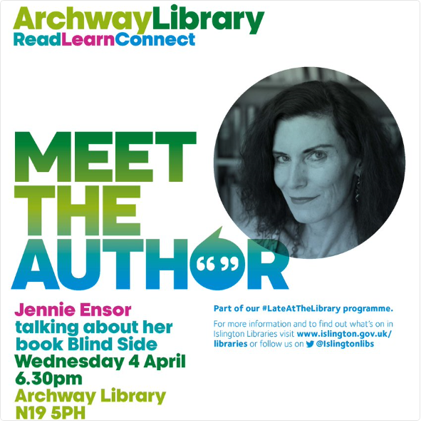Meet the author event at Archway Library 4 April 2018 POSTER